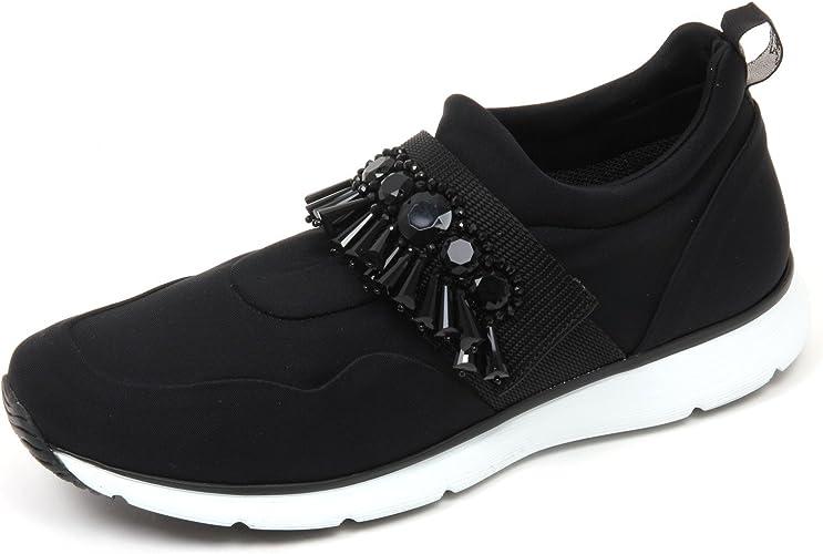 Hogan C8860 Sneaker Donna H254 Scarpa Nero con Pietre Shoe Woman ...
