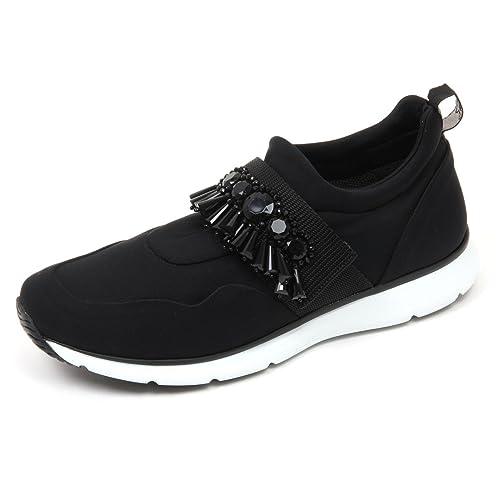 C8860 sneaker donna HOGAN H254 scarpa nero con pietre shoe woman