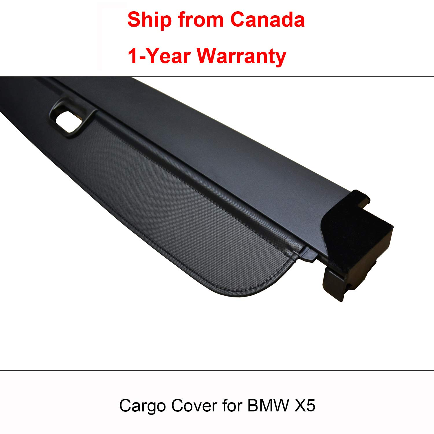 2014 2012 Ship from Canada 2013 2010 2017 2011 1-Year Warranty 2008 2007 2016 2015 Findway Black Retractable Rear Trunk Cargo Luggage Security Shade Cover Shield for BMW X5 2018 2009