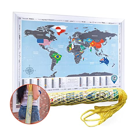 Amazon scratch off world map flags edition gift bag 268x19 scratch off world map flags edition gift bag 268x19 bright travel gumiabroncs Gallery