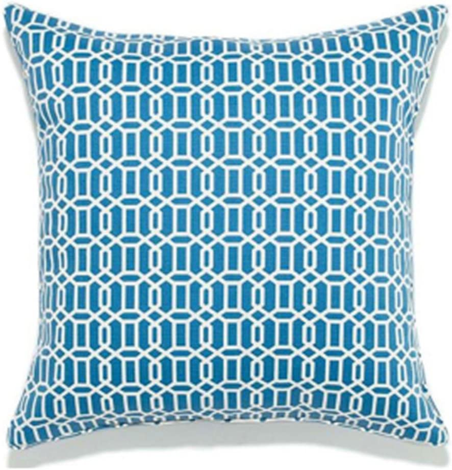 Jiti Mosaic Outdoor Polyester Square Throw Pillow, 20-Inch, Blue