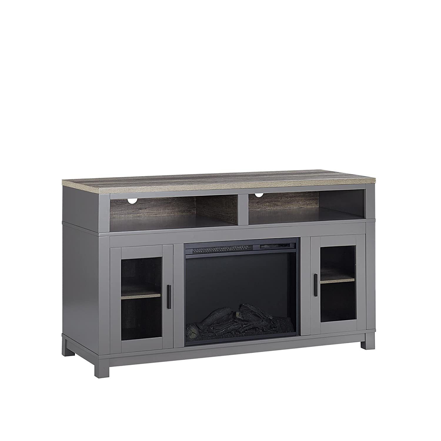 Amazon.com: Altra Furniture 1774096COM Carver Electric Fireplace ...