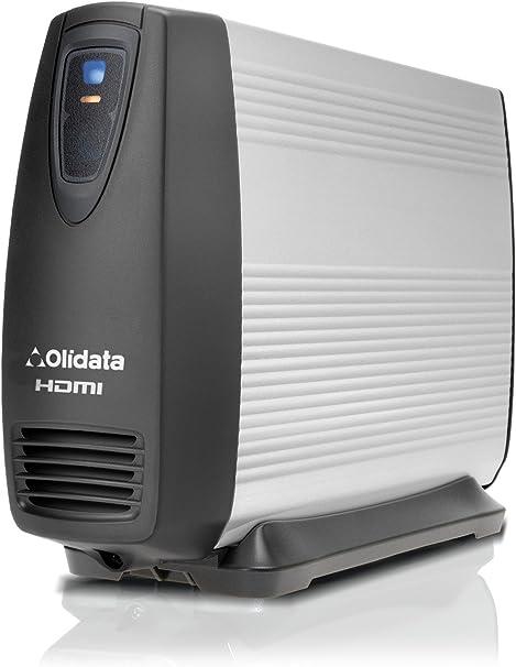 2000 GB/2 TB OLIDATA Disco Duro HDMI Multimedia Reproductor Multimedia sin Ventilador y Disco Duro Externo USB. con HDMI, SCART, Component, Compuesto AV y coaxial ...