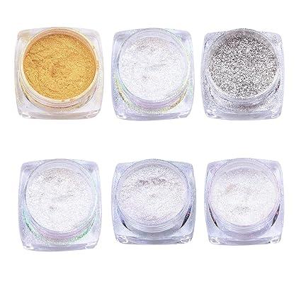 Rrimin Mirror Chrome Effect Dust Magic 6 Colours Glitter Shimmer