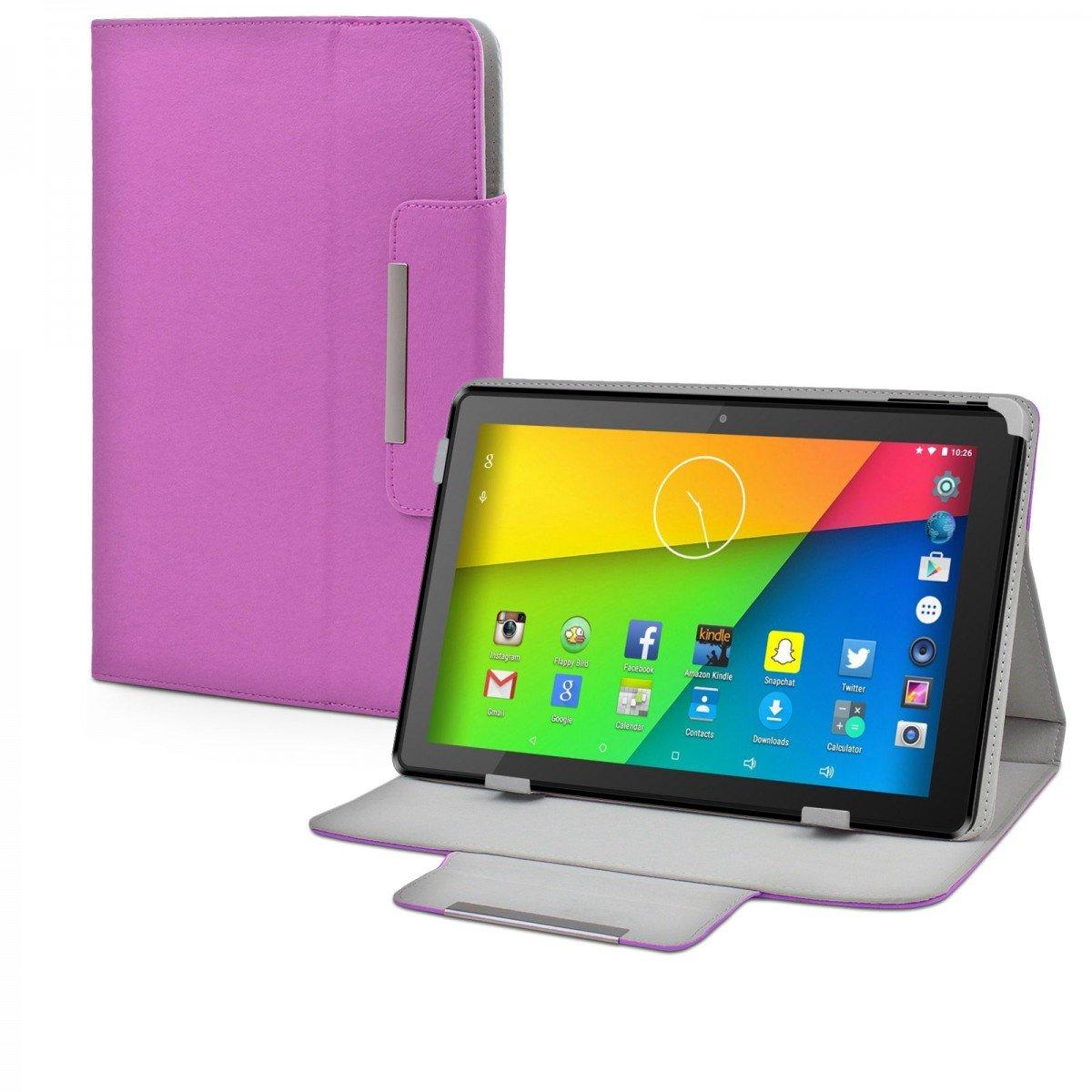 eFabrik móvil para Time2 - tc1050g (10,1)  Funda Case Cover Funda Sleeve de imitación de Piel Color Lila: Amazon.es: Electrónica