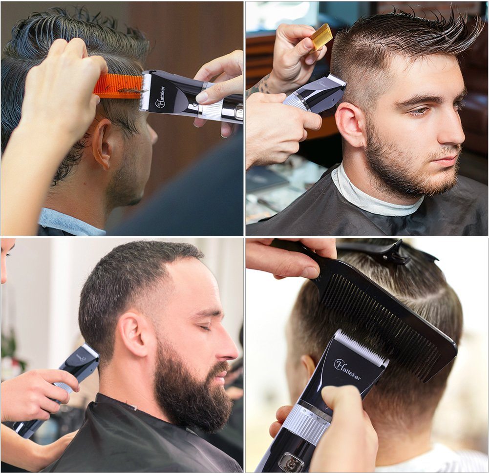 Cordless Hair Trimmer Waterproof Hair Clippers Beard Trimmer Haircut Kit for Men