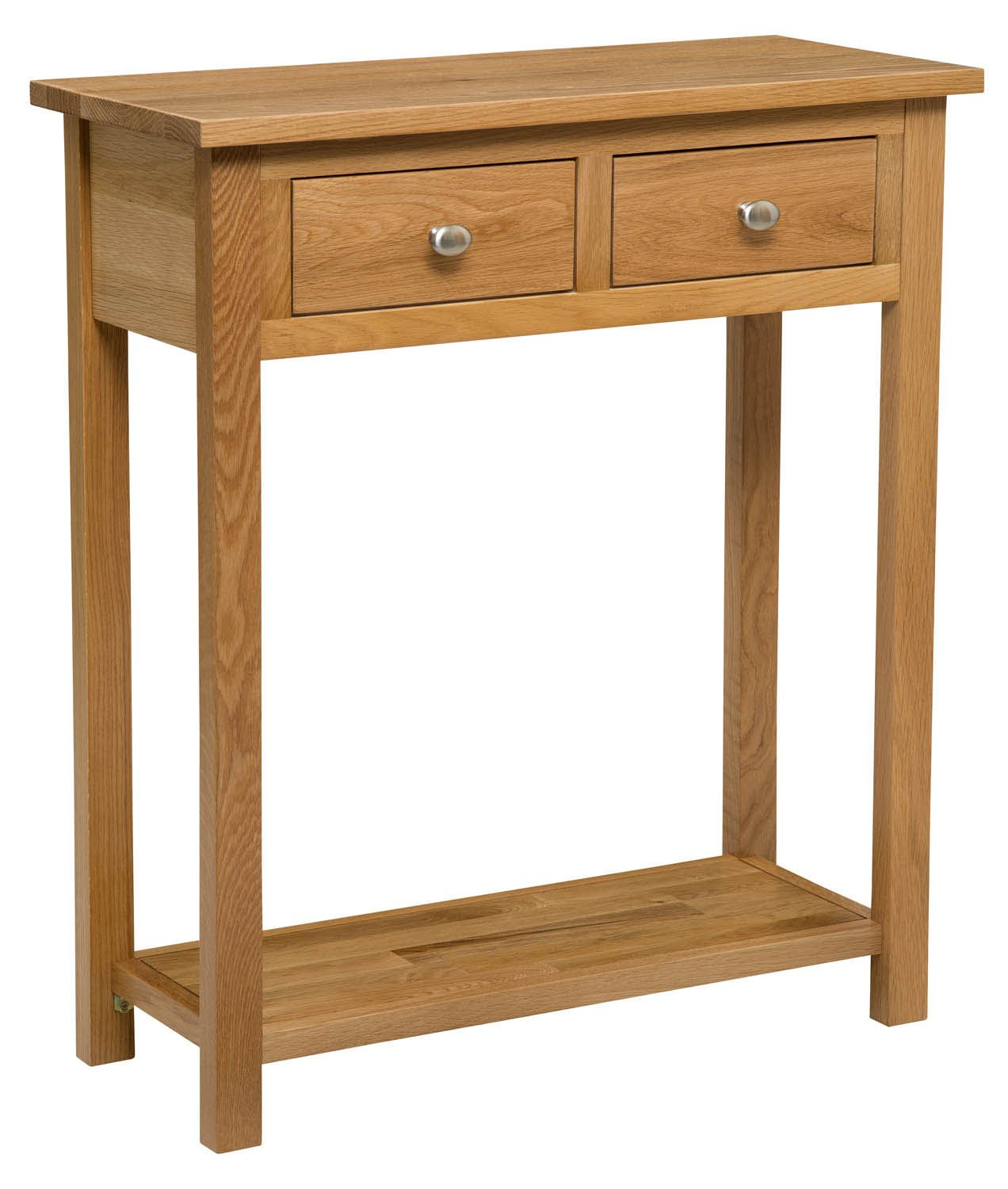 oak hall console table. Waverly Oak 2 Drawer Large Console Table In Light Finish | Solid Wooden Hall Table/Side Table/End Table/Telephone With Drawer: Amazon.co.uk: C