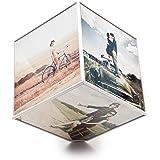 Balvi Kube Cadre-photo rotatif pour 6images 10x10 1pile AA non incluse