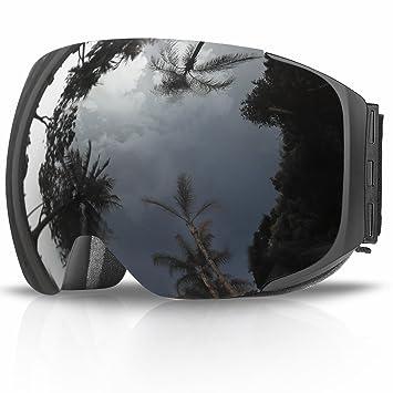 68152c9ead Gafas de Esquí, eDriveTech Máscara Gafas Esqui Snowboard Nieve Espejo para  Hombre Mujer Adultos Juventud