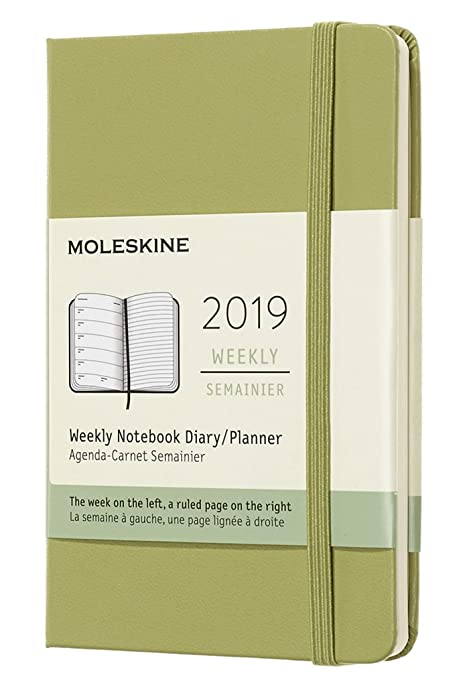 Moleskine Classic 12 Month 2019 Weekly Planner, Hard Cover, Pocket (3.5