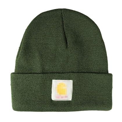 445f5c0b194 Mickee Men Ladies Casual Knitted Woolen Winter Elastic Slouch Beanie Hat  Cap Skateboard (Army Green)