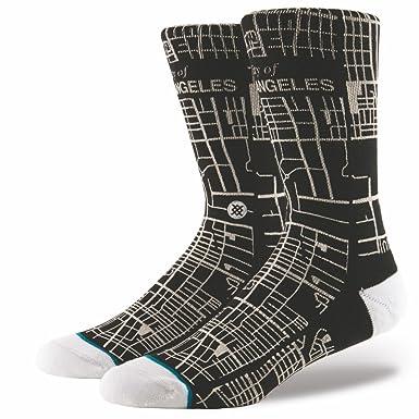 6f5bbfd99ca Stance City Of Angels Socks - Black Large  Amazon.co.uk  Clothing