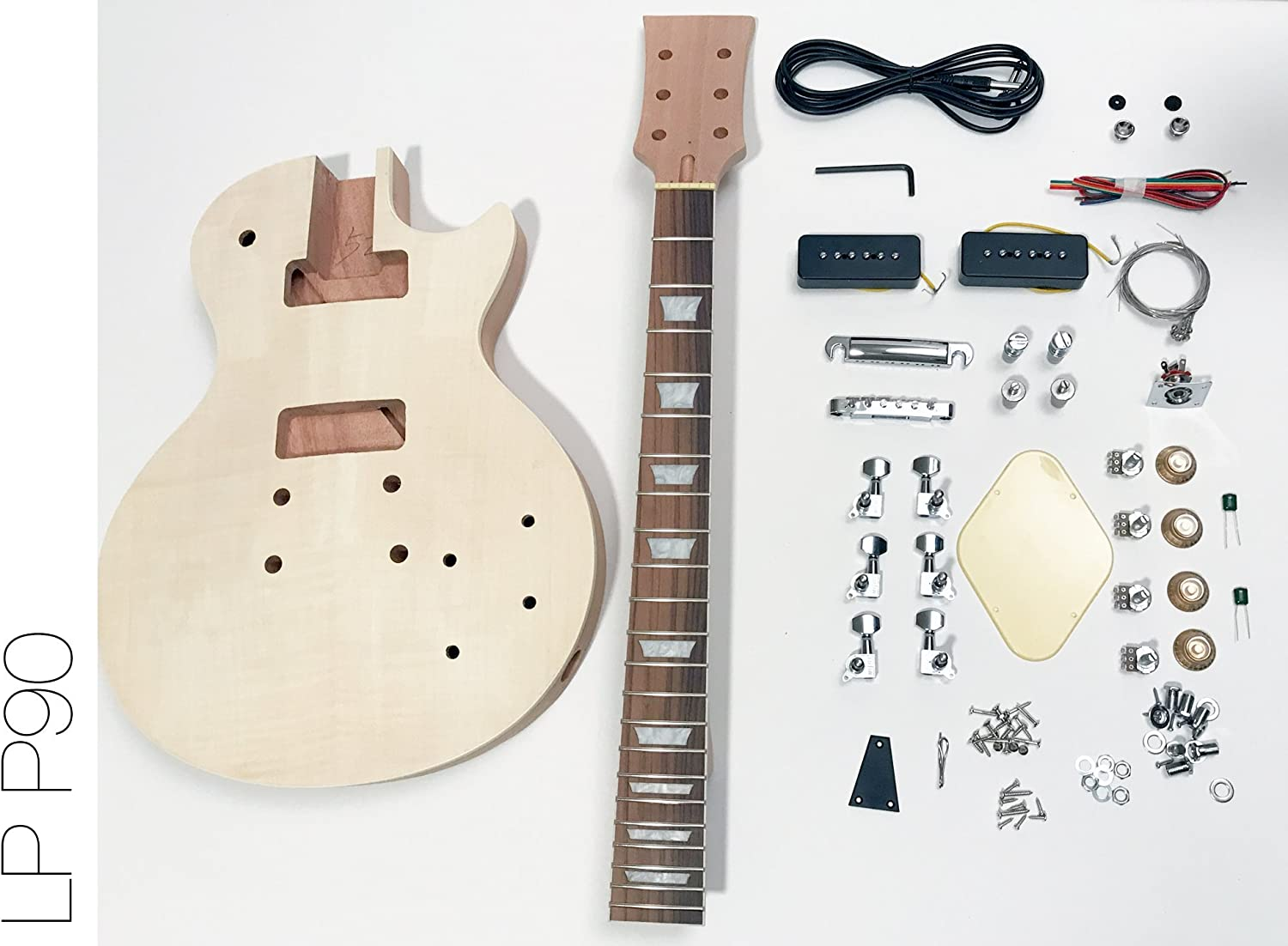 DIY Kit de guitarra eléctrica LP caoba P90 construir su propio Kit ...