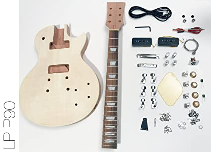 DIY Kit de guitarra eléctrica LP caoba P90 construir su propio Kit de guitarra