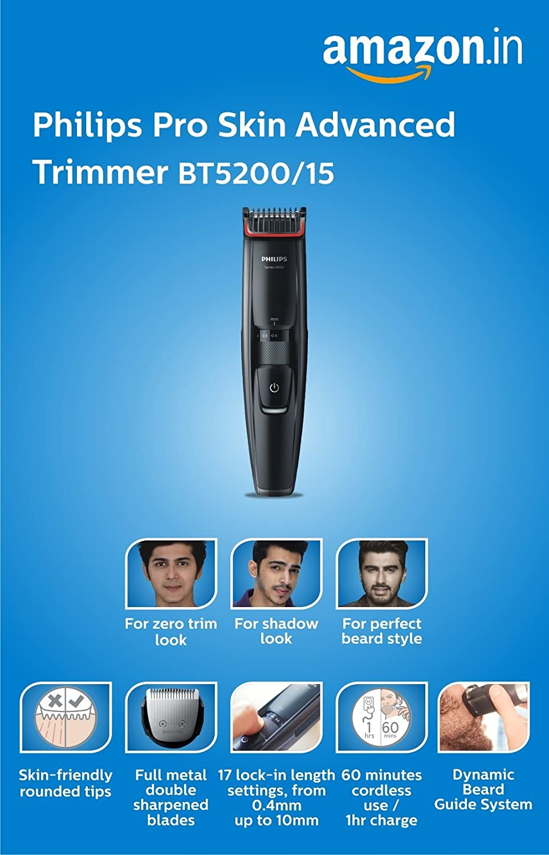 Philips BT5200 15 Pro Skin Advanced Trimmer  Amazon.in  Health   Personal  Care e89b77bb8c2