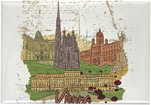 CafePress – Viena Austria imanes – rectangular imán, 2