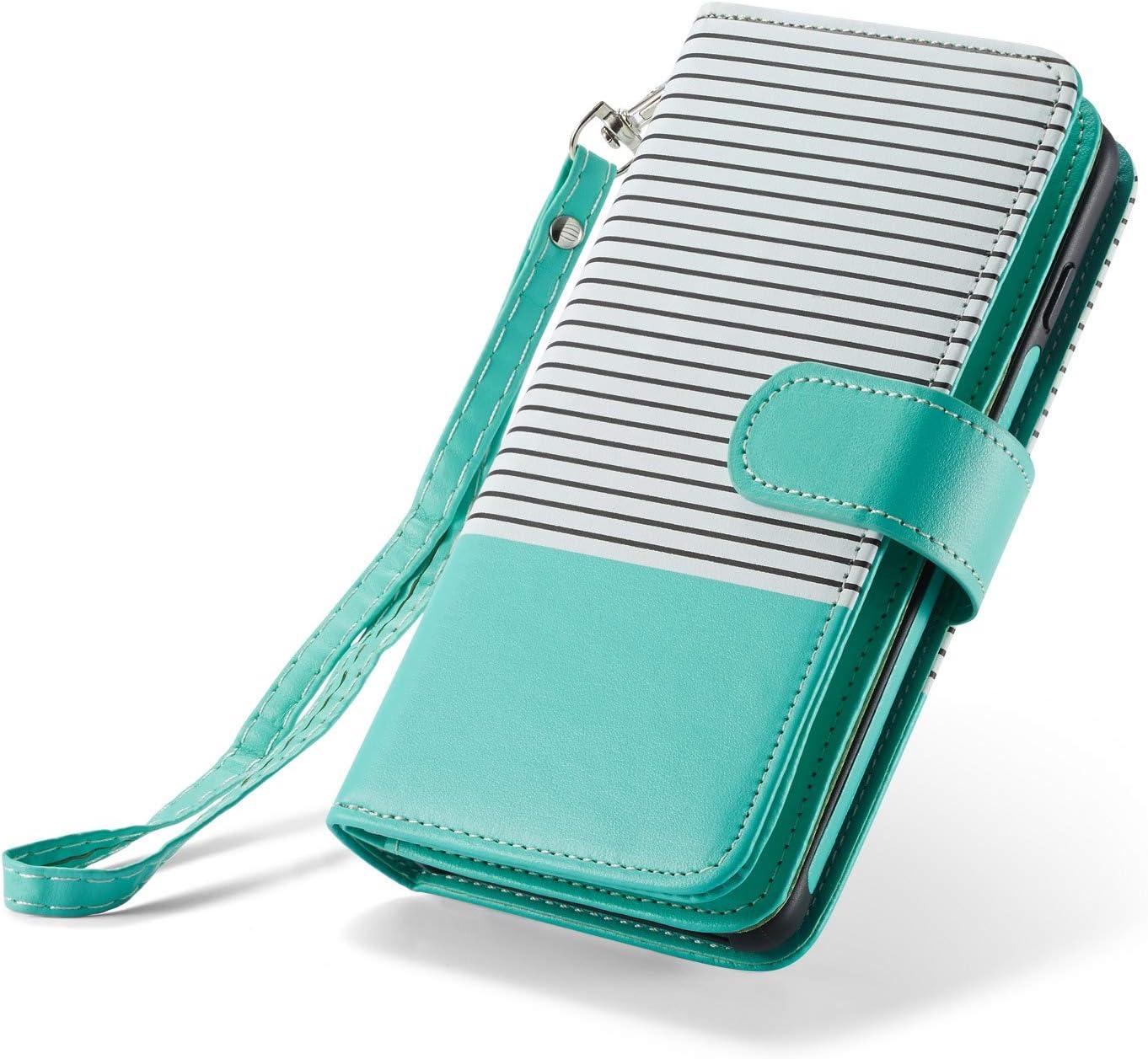 Nadoli Coque pour Samsung Galaxy S10 Plus Portefeuille Coque,/Épissure Glitter Bling PU /étui en Cuir Fentes pour Cartes Fermoir magn/étique Stand Flip Wallet Housse Etui Cover,Noir
