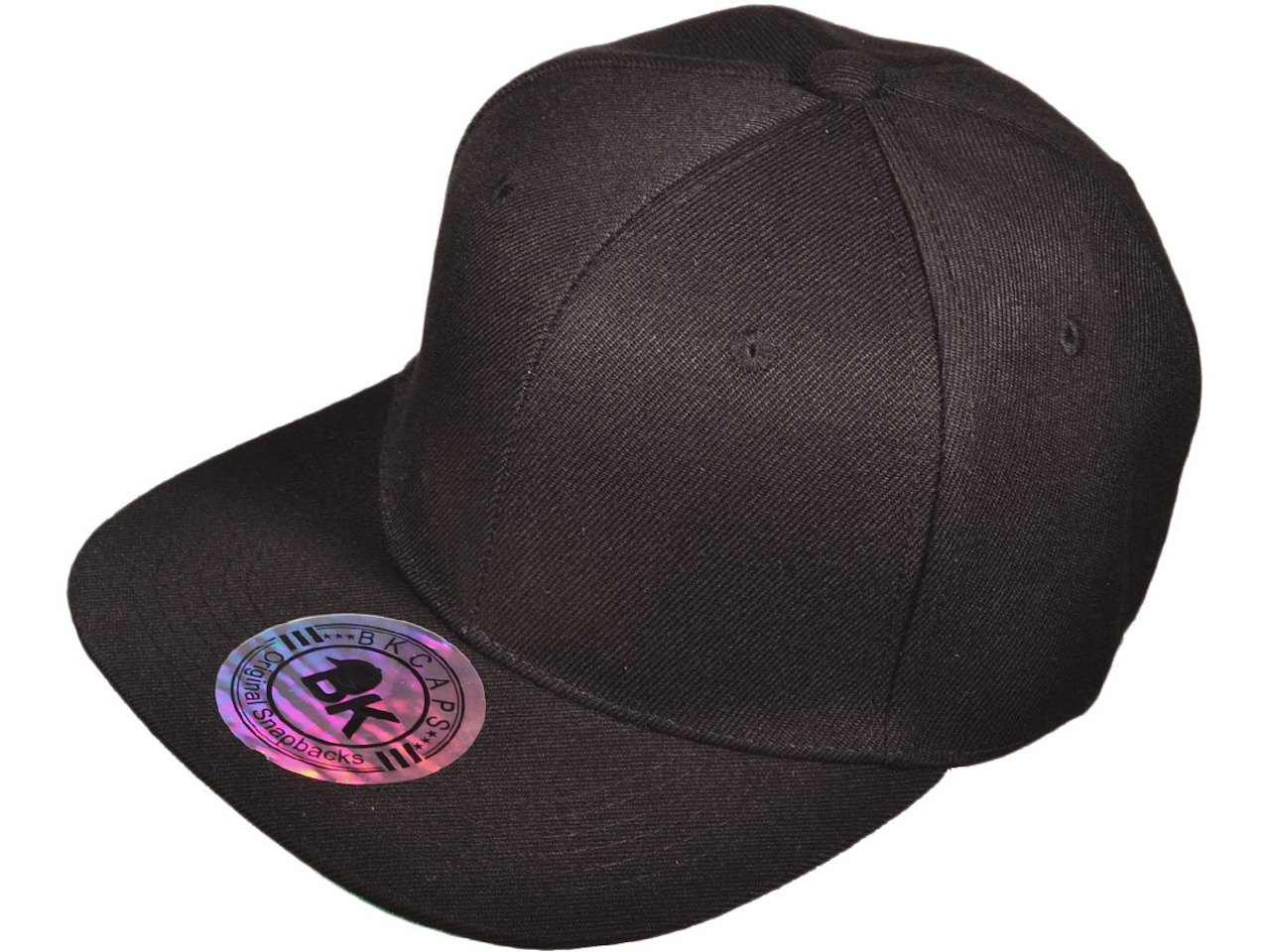 Amazon.com   New Blank Plain Black Snapback Hat Cap Flat Bill Adjustable  Green Underbill   Sports   Outdoors a3679a4bae2