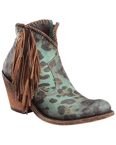 ea07a17cee57 Amazon.com | LIBERTY BLACK Women's Chita Turquesa Fringe Booties | Boots