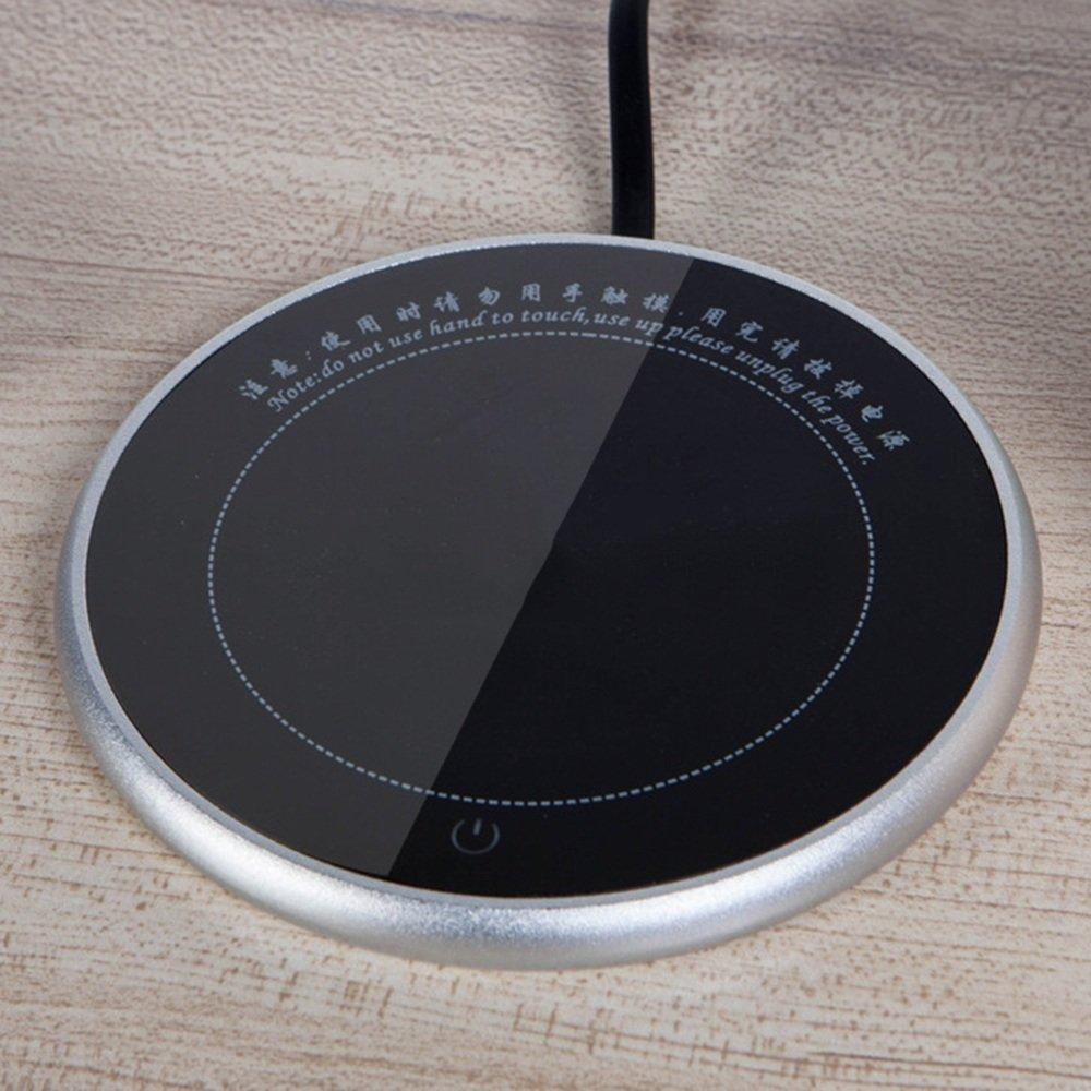 QFFL Touch Coaster eléctrico Ultrafino/Calentador de té de Temperatura Constante Creativa Calentador/Base de Aislante de Bebida de Leche Conveniente (3 ...
