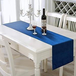 AAYU Denim Table Runner | Stone Washed Premium Quality (13 inch X 72 inch - Mid Wash)
