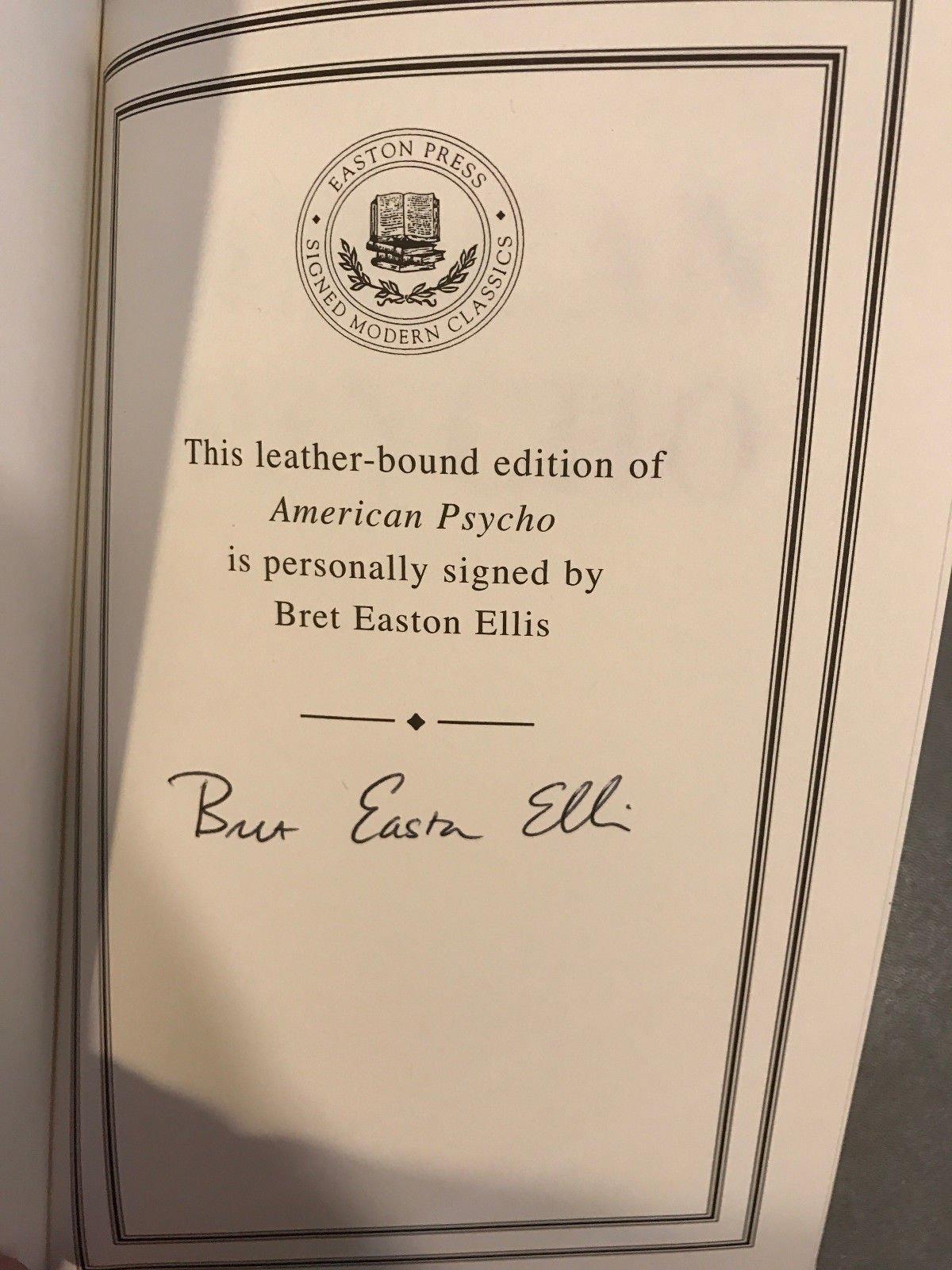 American Psycho Signed Edition Bret Easton Ellis Amazon Books