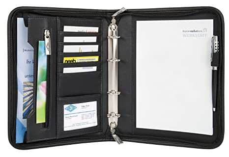 Wedo 585101 - Organizador (archivador de 4 anillas, tamaño A5, soporte para documentos