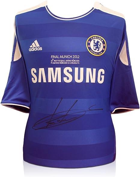 Didier Drogba del Chelsea Firmado Champions League 2012 camiseta ...
