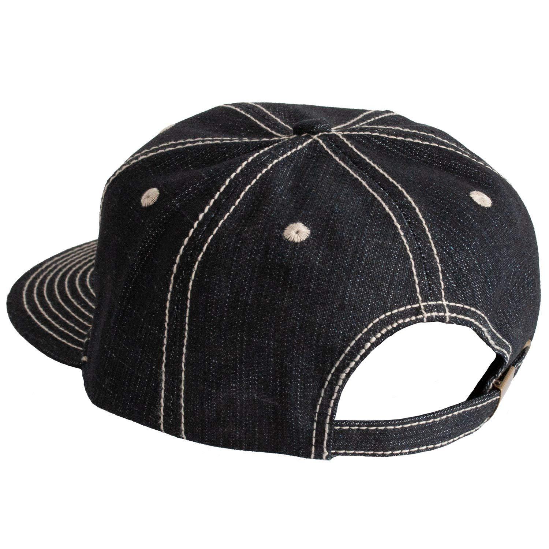 Levine Hat Co  Denim Baseball Cap  Structured Buckle Back Adjustable Hip  Style BB (One Size 867300fd17d