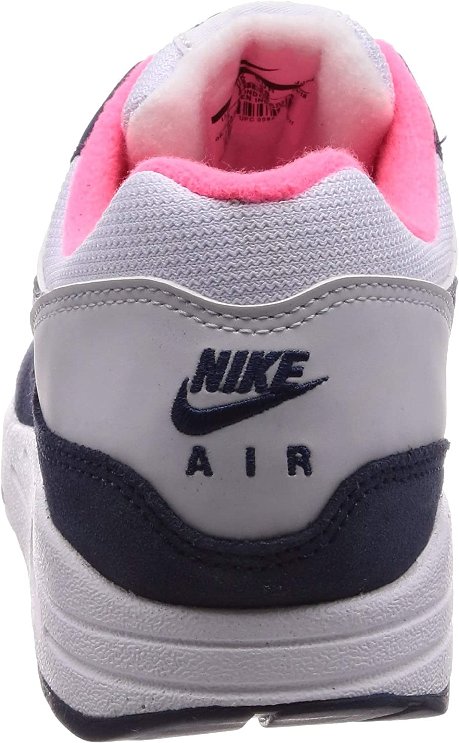 Nike Dames Wmns Air Max 1 Hardloopschoenen Multicolore (White/Midnight Navy/Pure Platinum 116)