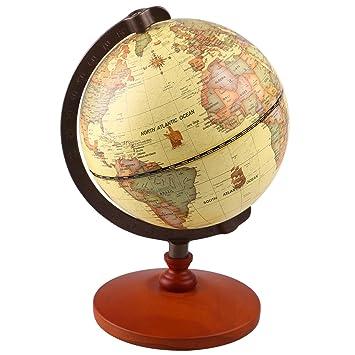 Vintage world globe antique decorative desktop globe rotating vintage world globe antique decorative desktop globe rotating earth geography globe wooden base educational globe wedding gumiabroncs Images