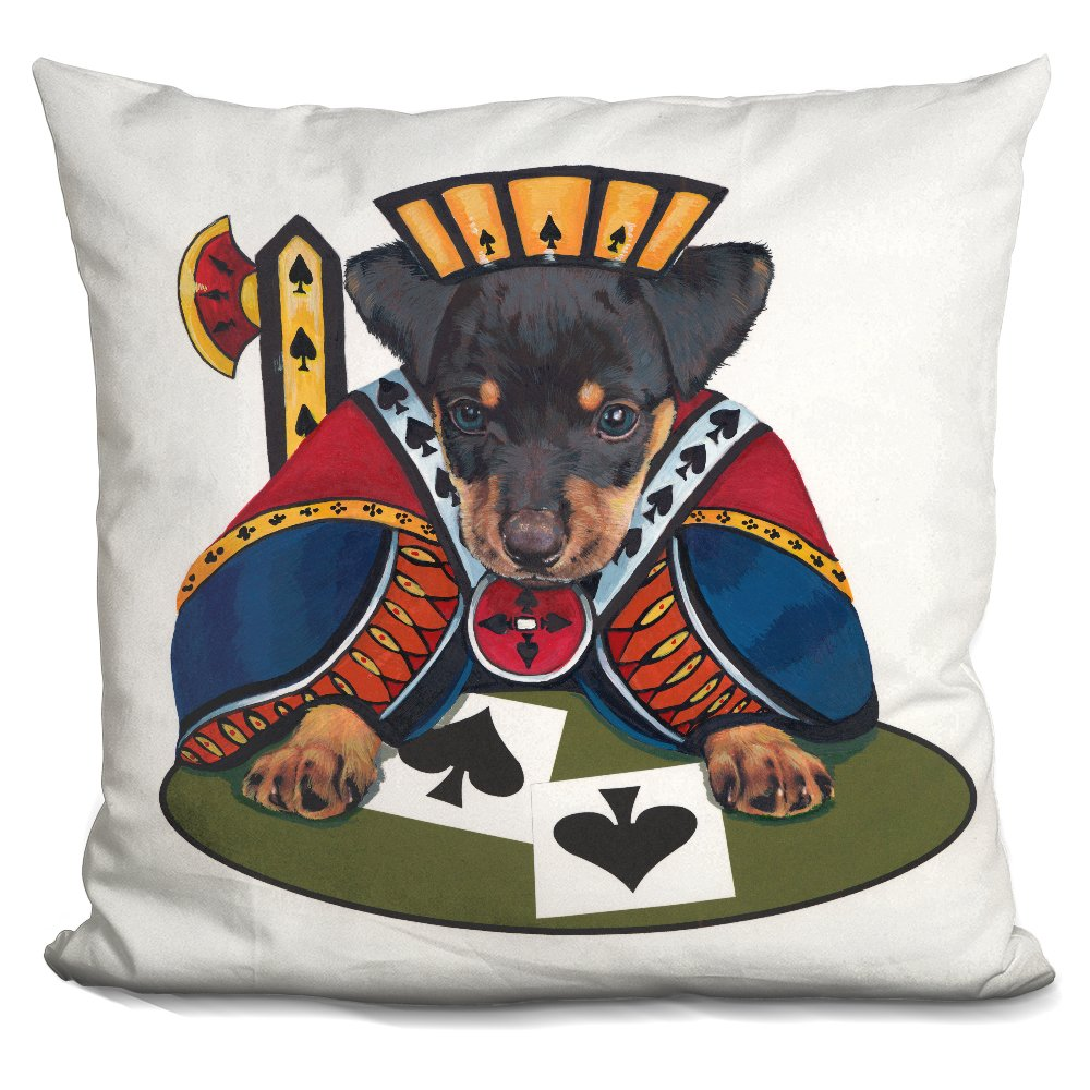 LiLiPi Jack of Spades Decorative Accent Throw Pillow