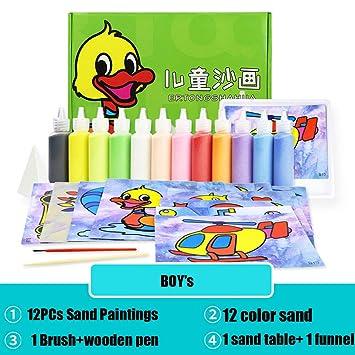 DOGZI Pintura de Arena con 12 Color Juguetes educativos para niños ...
