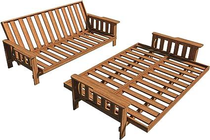 Planes de sofá cama Futon DIY tumbona sofá cama Sleeper muebles construcción carpintería: Amazon.es: Hogar