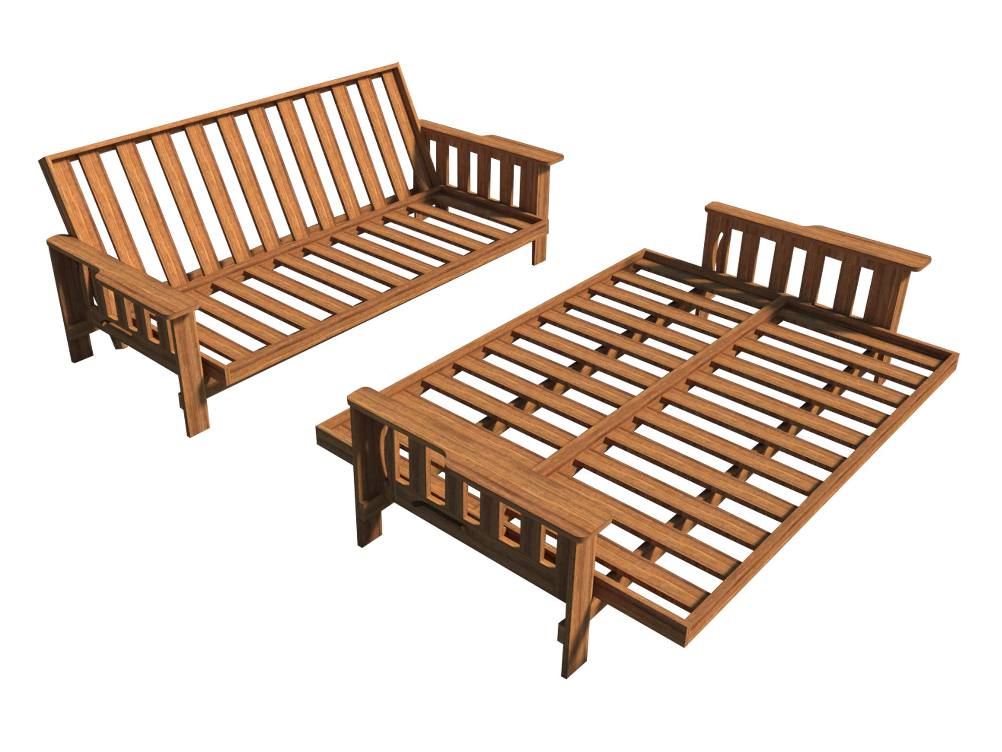Futon Sofa Bed Plans DIY Lounger Couch Sleeper Furniture Building Woodworking by DIY Plans