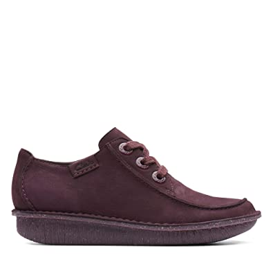 d8b7ec66d7d Clarks Funny Dream Nubuck Shoes in Aubergine Standard Fit Size 8 Purple