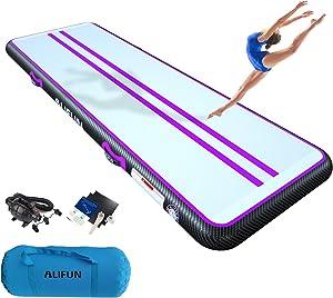 ALIFUN Air Mat Track Inflatable Gymnastics Tumble Track Gym Mat 3.3ft 10ft 13ft 16ft 20ft for Air Floor Yoga Mat for Outdoor Sports Training Cheerleading