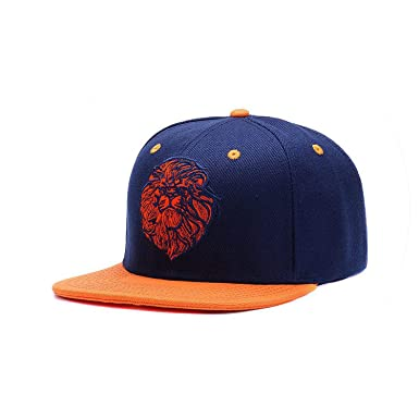 ff64ff16902 Amazon.com  Lion face Embroidery Cap Cool King Hip hop hat for Boys ...
