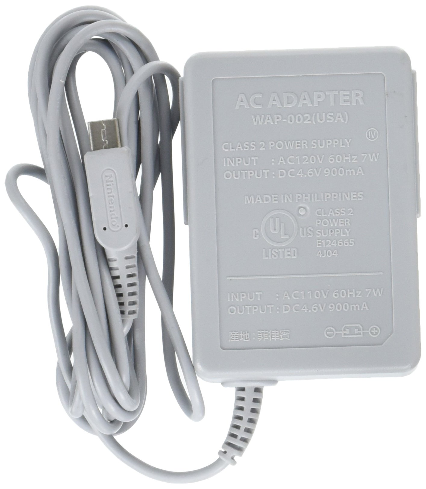 Amazoncom US Plug AC V Gray Power Charger Adapter For - Us zip code nintendo