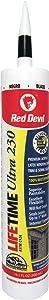 Red Devil 077060 Lifetime Ultra Premium Elastomeric Acrylic Latex Sealant, Black, 10.1 Oz, Pack of 1