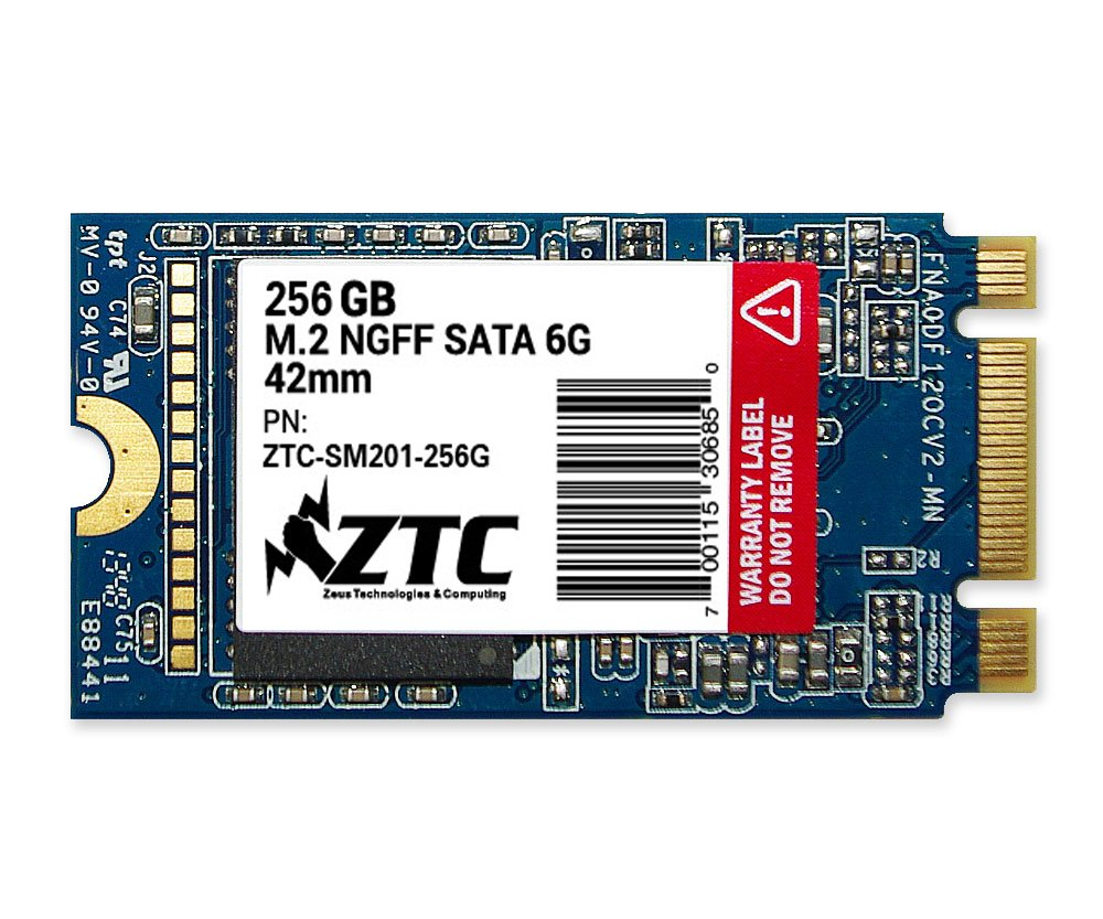 ZTC 256GB Armor 42mm M.2 NGFF 6G SSD Solid State Drive. Model ZTC-SM201-256G by ZTC