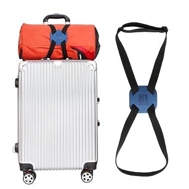 Luggage Straps Luggage Bungee Suitcase Adjustable Belt(Blue)