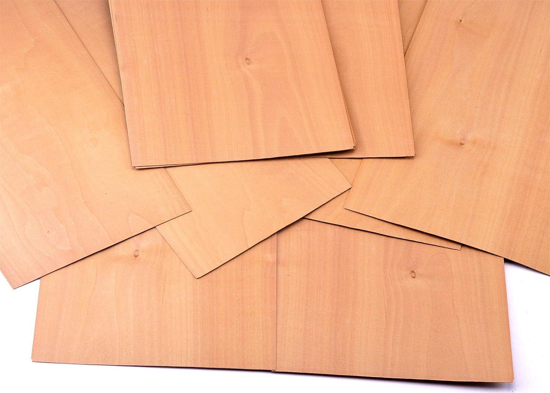 Ausbesserungsarbeiten Schmuck basteln Restauration DIY 4-5 Furniere in den Holzart Akazie Fotografie Furnier geeignet f/ür Modellbau Geschenk Intarsien