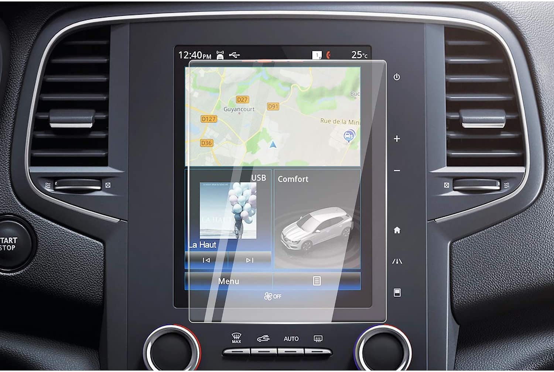 CDEFG para Renault Megane 4 RS Protector de Pantalla de Vidrio Templado, HD Auto 9H GPS Navi película protegida Glass (8,7 Inches)