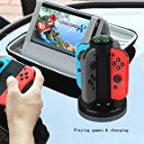 Asomie Joy-Con Charge Charger Stand 4 Controllers