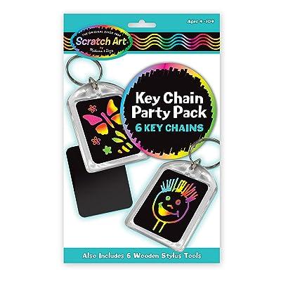 Melissa & Doug Scratch Art Key Chain Party Pack Activity Kit - 6 Key Chains: Melissa & Doug: Toys & Games