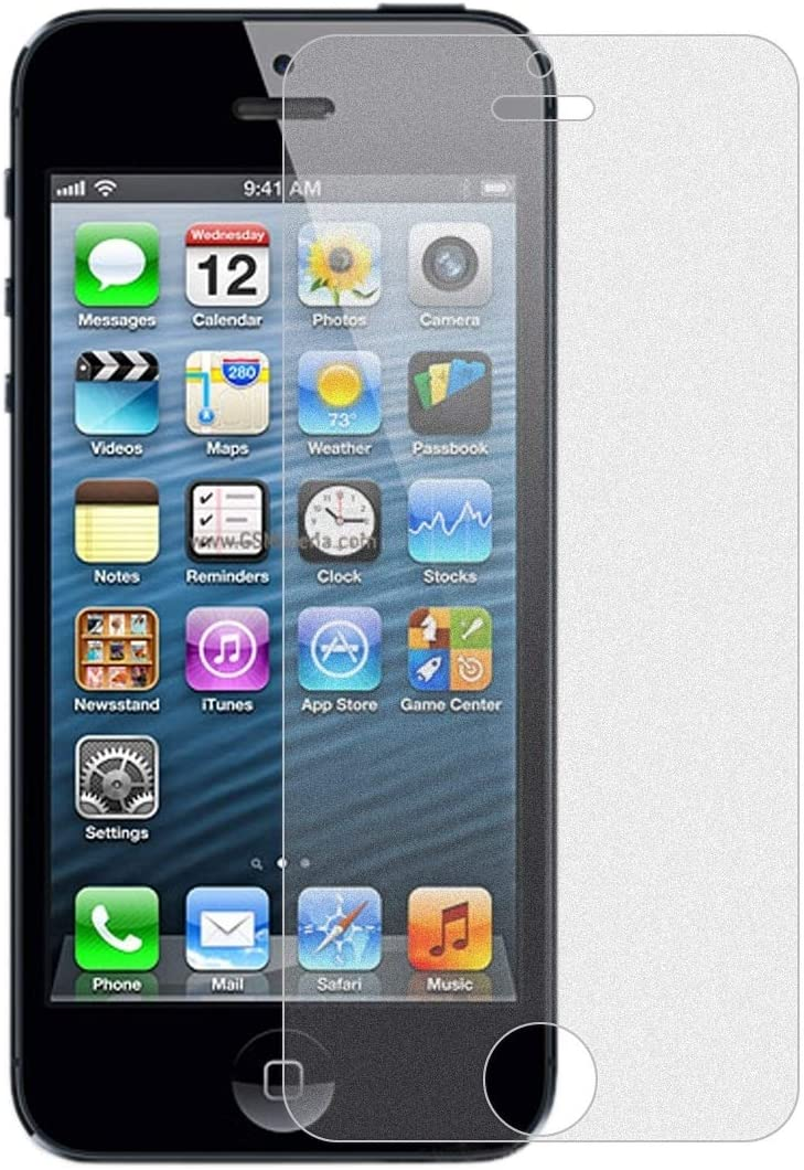 5S 50PCS Non-Full Matte Frosted Tempered Glass Film for iPhone 5 5C Durable