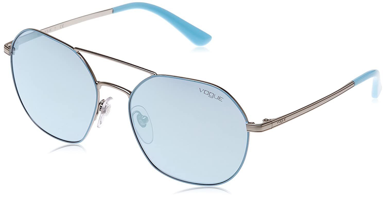 Vogue 0Vo4022S Gafas de sol, Redondas, 55, Matte Azure ...