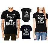 SR Bear Family T-Shirts for Mama Bear Papa Bear Baby Bear Black
