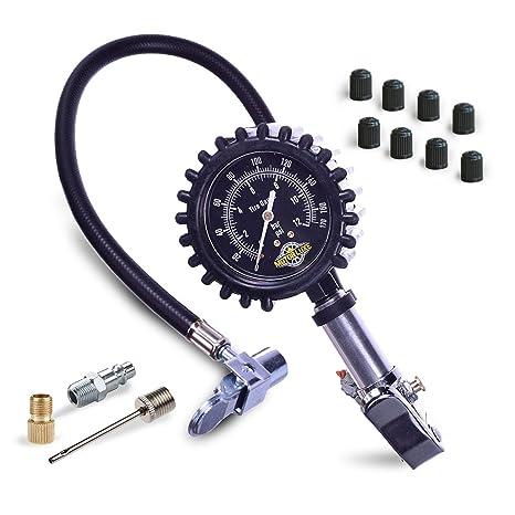 Motor Luxe – Inflador de neumáticos Medidor de presión 170 PSI/12 bar – Heavy